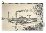 A Mississippi Steamer Off St Louis From American Notes By Charles Dickens  Carry-all Pouch by EH Fitchew