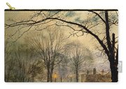 A Moonlit Stroll Bonchurch Isle Of Wight Carry-all Pouch by John Atkinson Grimshaw