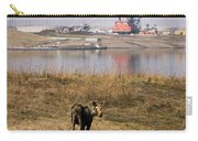 A Moose Walks On The On Reclaimed Land Carry-all Pouch