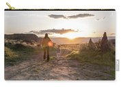 A Mother And Child Hike At Sunset Carry-all Pouch
