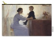 A Mother And Child In An Interior Carry-all Pouch by Peter Vilhelm Ilsted