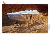 A Mountain Biker Rides By On Slickrock Carry-all Pouch