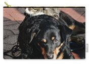 A Mouse On A Cat On A Dog In Santa Carry-all Pouch