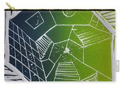 A New Dimension Blue And Green Linocut Carry-all Pouch