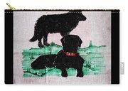 A Newfoundland Dog And A Labrador Retriever Carry-all Pouch