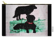 A Newfoundland Dog And A Labrador Retriever Carry-all Pouch