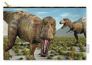 A Pack Of Tyrannosaurus Rex Dinosaurs Carry-all Pouch