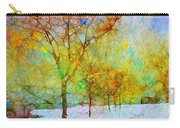 A Painted Winter Carry-all Pouch