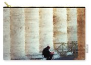A Painting Alone Among The Vatican Columns Carry-all Pouch