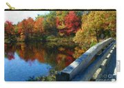 A Painting Autumn Lake And Bridge Carry-all Pouch