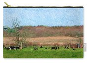 A Painting Cows Grazing And Newport Bridge Carry-all Pouch