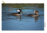 A Pair Of Hooded Mergansers  Lophodytes Carry-all Pouch