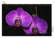 A Pair Of Purple Orchids From Bermuda Carry-all Pouch