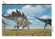 A Pair Of Stegosaurus Dinosaurs Carry-all Pouch