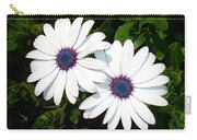 A Pair Of White African Daisies Carry-all Pouch