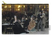 A Parisian Cafe Carry-all Pouch by Ilya Efimovich Repin