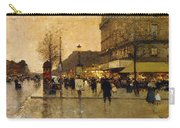 A Parisian Street Scene Carry-all Pouch by Eugene Galien-Laloue
