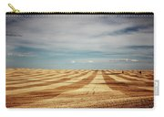 A Pattern Of Stripes Across A Farmers Carry-all Pouch