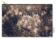Clusters Of Daffodils In Sepia Carry-all Pouch