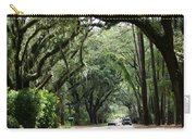 A Pretty Tree Covered Road Somewhere On Hilton Head Island Carry-all Pouch
