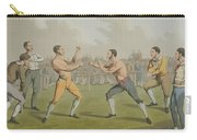 A Prize Fight Aquatinted By I Clark Carry-all Pouch by Henry Thomas Alken