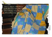 A Quilt With Daisies And Quote Carry-all Pouch