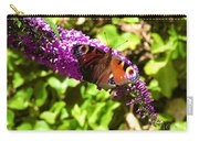 A Red Admiral On A Purple Budlier Carry-all Pouch