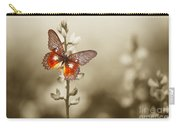 A Red Butterfly On The Moody Field Carry-all Pouch