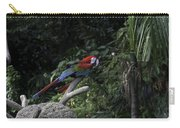 A Red Green And Blue Macaw On A Branch In The Jurong Bird Park Carry-all Pouch