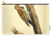 A Red Moustached Woodpecker Carry-all Pouch by Philip Ralley