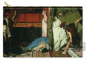 A Roman Emperor   Claudius Carry-all Pouch by Sir Lawrence Alma Tadema