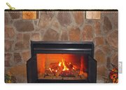 A Room With A Fireplace Carry-all Pouch