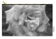 A Rose In Black And White Carry-all Pouch