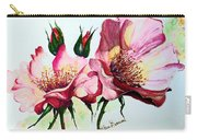 A Rose Is A Rose Carry-all Pouch by Karin  Dawn Kelshall- Best