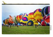 A Row Of Hot Air Balloons Left Side Carry-all Pouch