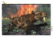 A Saber-toothed Tiger Running Away Carry-all Pouch