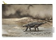 A Saichania Chulsanensis Dinosaur Carry-all Pouch by Roman Garcia Mora