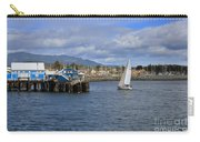 A Sailing Yacht Passes The Wharf In Sidney Harbour Carry-all Pouch