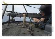 A Sailor Fires An M-240b Machine Gun Carry-all Pouch by Stocktrek Images