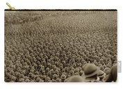 A Sea Of Helmets World War One 1918 Carry-all Pouch