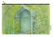 A Seat In The Garden Carry-all Pouch by Garry Walton