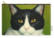 A Serious Cat Carry-all Pouch by James W Johnson