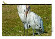 A Serious Woodstork Carry-all Pouch