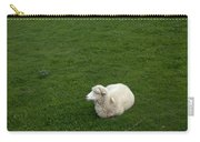 A Sheep Stands In A Green Prairie Carry-all Pouch