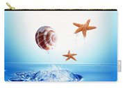 A Shell And Two Starfish Floating Carry-all Pouch