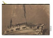 A Ship In Choppy Seas Carry-all Pouch by Victor Hugo