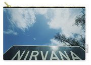 A Sign That Reads Nirvana Carry-all Pouch