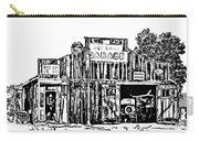 A Simpler Time Line Art Carry-all Pouch by Steve Harrington