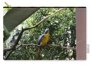 A Single Macaw Bird On A Branch Inside The Jurong Bird Park Carry-all Pouch