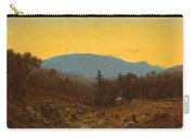 A Sketch Of Hunter Mountain. Catskills. Twilight On Hunter Mountain Carry-all Pouch